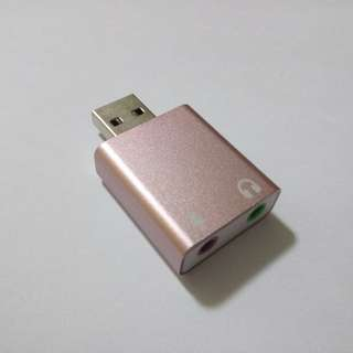 Brand New Pink Aluminum Housing 7.1 Channel USB to Audio Sound Card Adapter