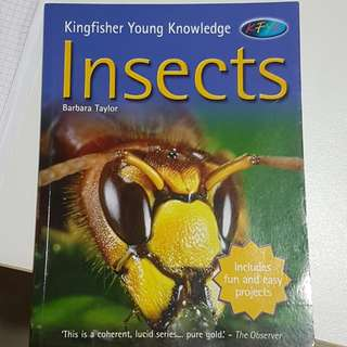 Knowledge books on insects & Sharks