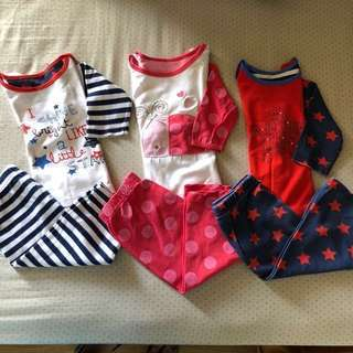Mothercare sleeping wear sets