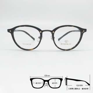 💎 整付配到好 💎[檸檬眼鏡] RETROCRAFT RC 1047 DEM 義大利製 光學眼鏡 細膩鈦金屬工藝-1
