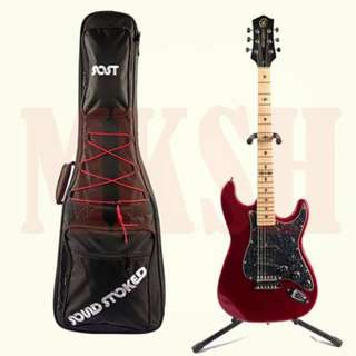 Stadd Stratocaster Electric Guitar (Wine Red)