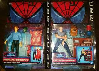Spider-man Movie Action Figures (Peter Parker and Norman Osborn)