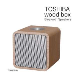 Toshiba Wood Box Portable Wireless Speaker