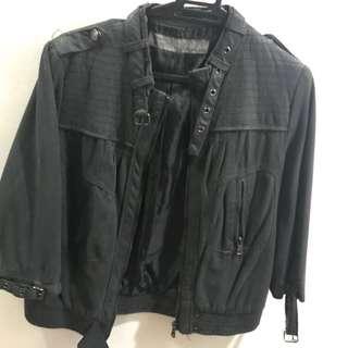 Zara cropped motorcycle jacket