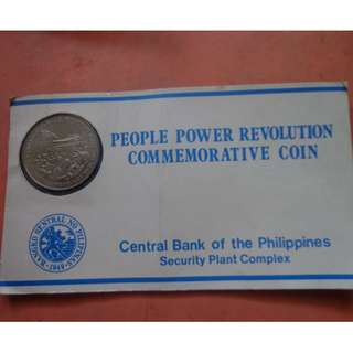 10 PESO PEOPLE POWER COMMEMORATIVE COIN