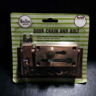 Door Chain & Bolt. Brand new, never used