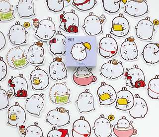 Molang Playtime Scrapbook / Planner Stickers #112