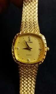 Cyma Swiss quartz watch