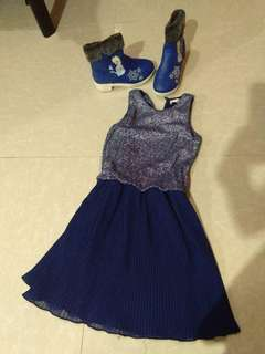 Boots and dress forsale(Seldom used)