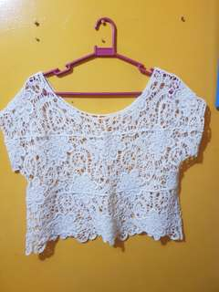 Crochet swimsuit cover up top