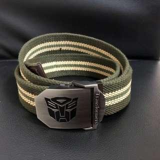 Boy belt (Army green) Transformer logo
