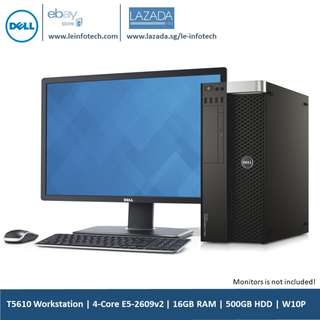 🚚 Dell Precision T5610 Workstation 4-Core E5-2609 v2 #2.4Ghz 16GB DDR3 1TB SATA HDD Nvidia NVS 300 Win 10 Pro Used