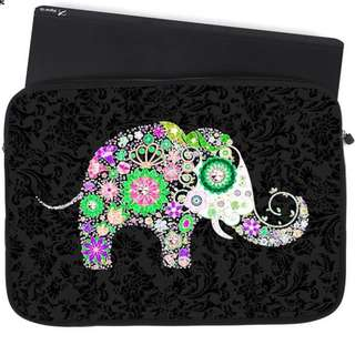 BN ☘️Ready ☘️ Laptop Sleeve - Fortune Colorful Elephant