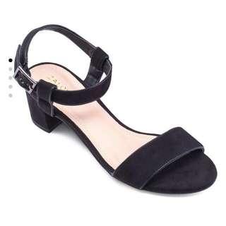 BN zalora black block heels