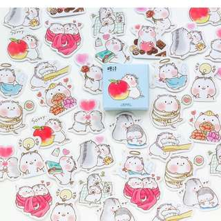 Lovey Dovey Hamsters Scrapbook / Planner Stickers #113