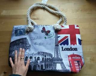 London Beach Tote Bag