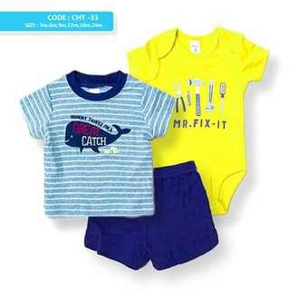 3pc Baby Boy Terno Set - CHT33