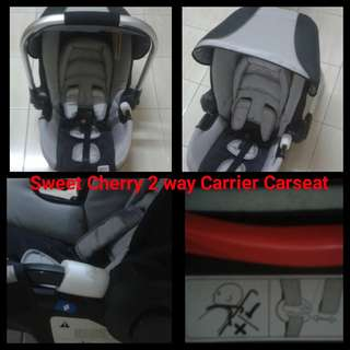Sweet cherry 2 way baby carrier car seat brand new