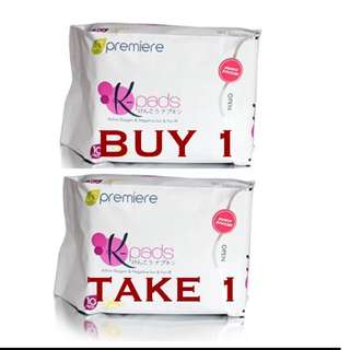 AUTHENTIC K-PADS NEGATIVE ION DAY NAPKIN