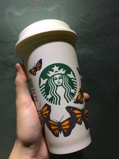 starbucks reusable cup - monarch