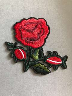 Bn Iron On Patch/rose