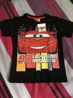 Disney Pixar Cars (Black T-shirt) Lightning McQueen