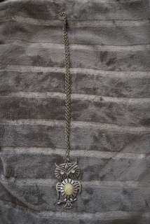 Owl with White Pendant Rose Necklace