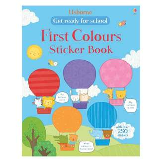 BN Usborne Get ready for school first colours sticker book *Free Pastage*