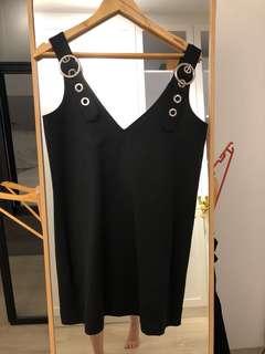 Black belted straps dress