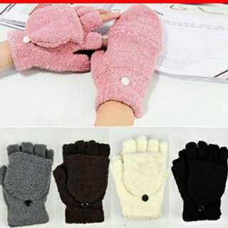 Cute white gloves