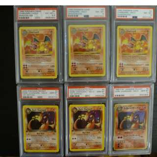 PSA Charizard collection pokemon cards