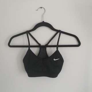Nike V-Neck Black Sports Bra Size XS