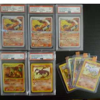 PSA Charizard Pokemon Cards Collection