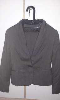 Office suits, blazer and mini skirts