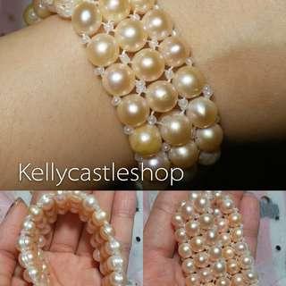 珍珠 3排手鍊