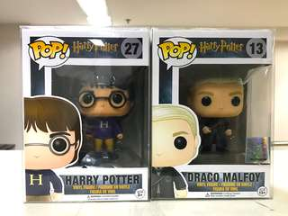 Funko Pop Harry and Draco Set