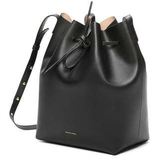 Used mansur gavriel mini bucket black/ballerina