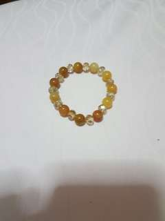 Agate n Crystal bracelet
