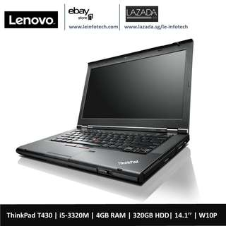🚚 Lenovo ThinkPad T430 14'' LED Notebook intel i5-3320M#2.6Ghz 4GB DDR3 320GB HDD WIN 10 PRO INTEL HD 4000 WARRANTY