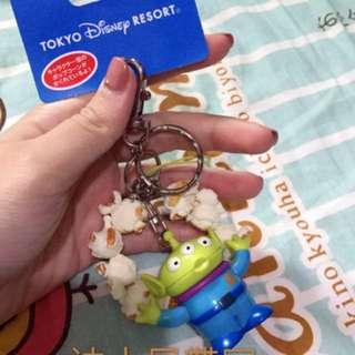 🚚 東京迪士尼帶回  可愛爆米花鑰匙圈