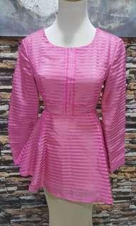 Pink Blouse melinda loy new