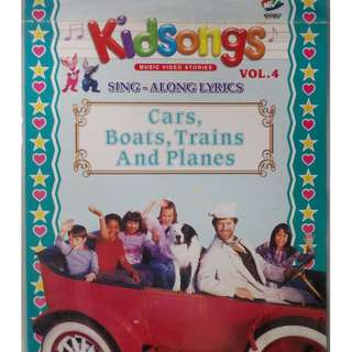 Kidsongs Sing Along Lyrics Cars Boats Trains And Planes Vol.4 VCD