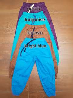 Kid's Colorful Jogger Pants - Ukuran L