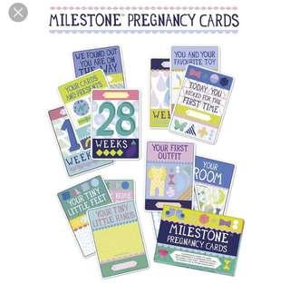 Milestone Pregnancy Card