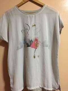 SALE - Penshopped see-through blouse