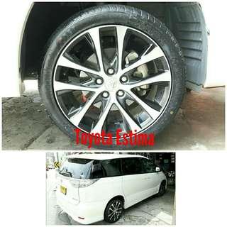 Tyre 225/45 R18 Membat on Toyota Estima Aeras 🐕 Super Offer 🙋♂️