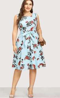 Inah plus size floral dress