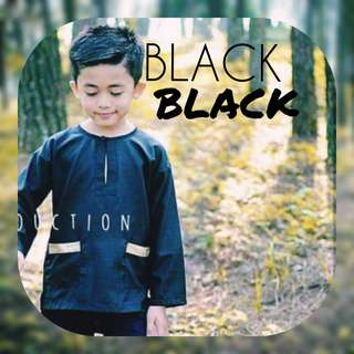 "(INSTOCK) KIDS ""BLACK"" RAYA2018 COLLECTION"
