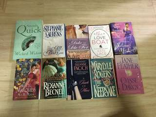 Romance or historical romance novel bundle