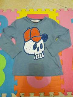 Blue sweatshirt for baby boy